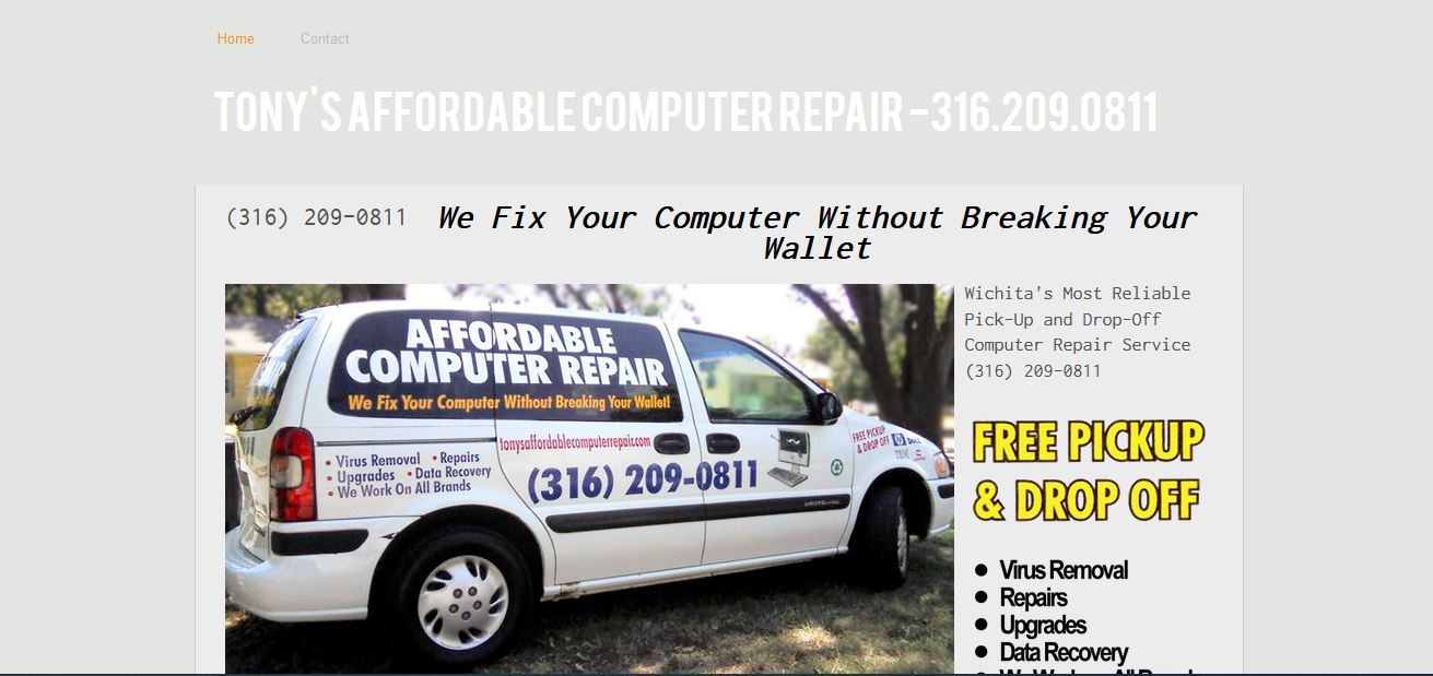Tony's Affordable Computer Repair