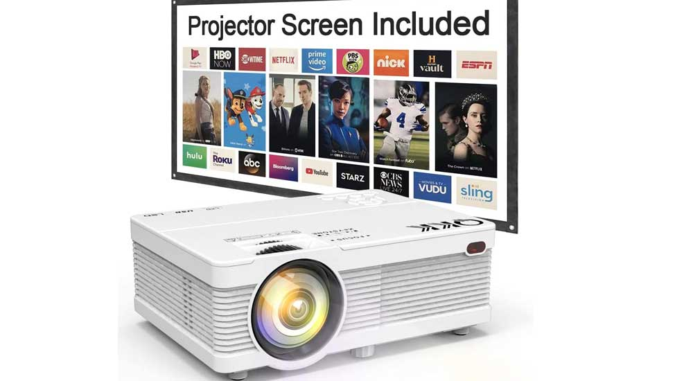 Qkk Qk02 5500 Mini Portable Lcd Projector